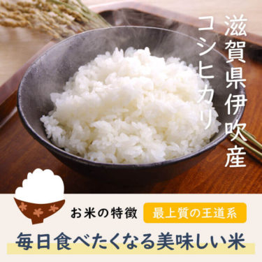 新米 滋賀県伊吹産 コシヒカリ