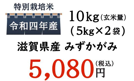 新米みずかがみは、食味ランキングで3年連続特Aに格付けされたお米。コメ食味ランキングでは、関西から数少ない特A米