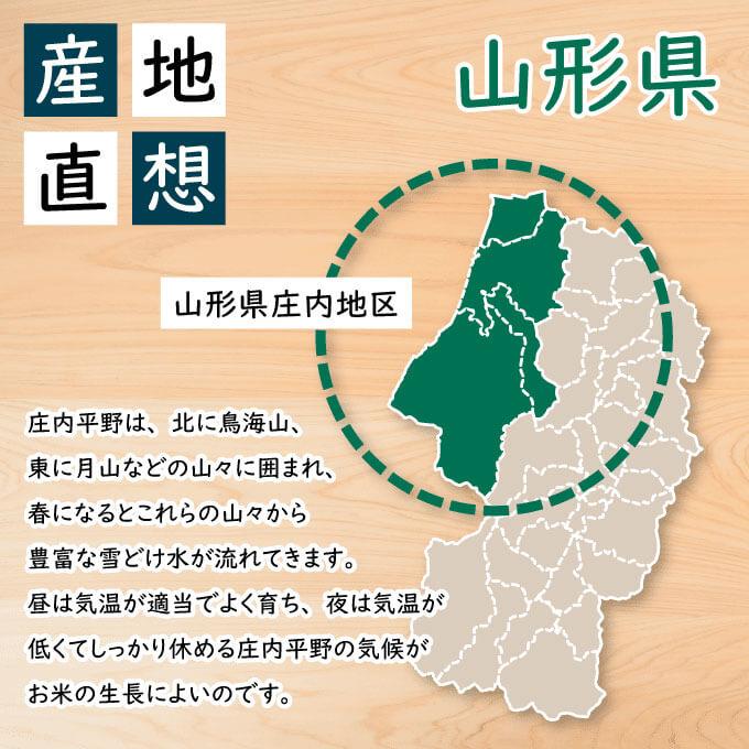 庄内米で有名な山形県庄内平野で作られたお米